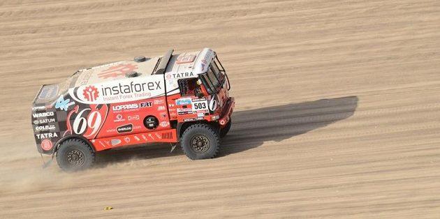 Aleš Loprais během Rallye Dakar 2013.