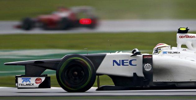 Sauber Mexičana Sergia Péreze na Velké ceně Malajsie.