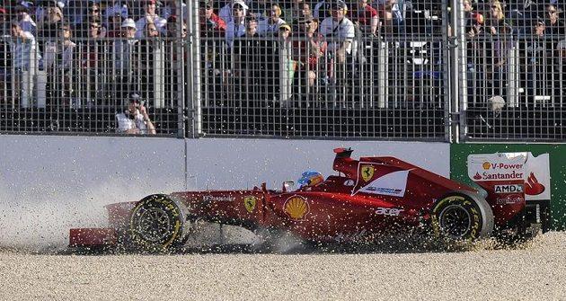 Fernando Alonso se dostal mimo trať.