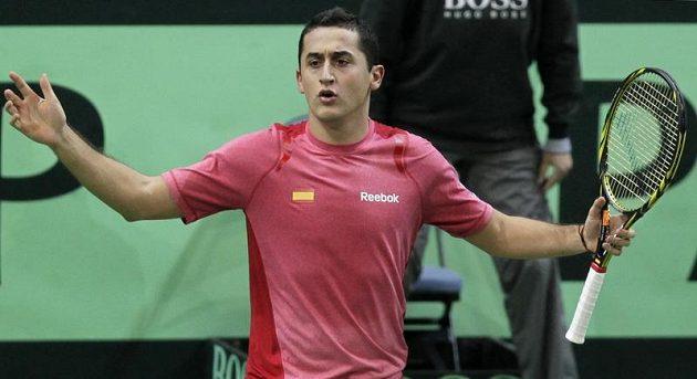 Nicolás Almagro domácí tenisovou jedničku Tomáše Berdycha pořádně potrápil