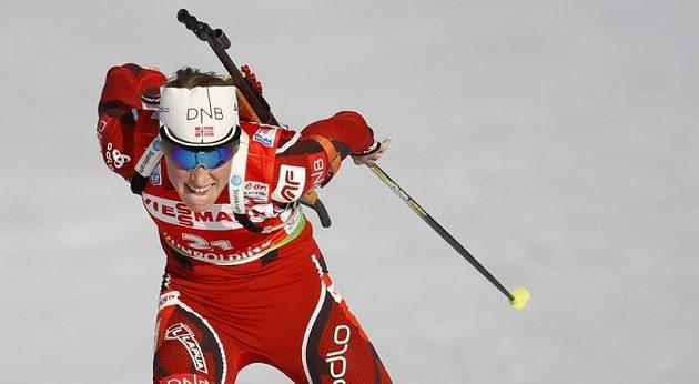 Norská biatlonistka Nora Bergerová