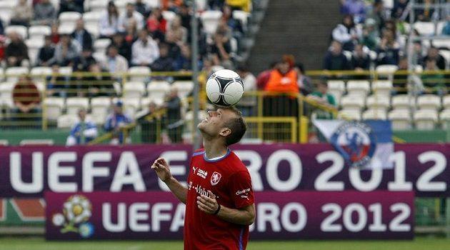 Daniel Kolář na tréninku českého týmu po zápase proti Řecku