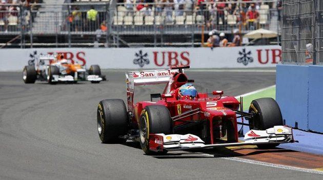 Fernando Alonso během Velké ceny Evropy