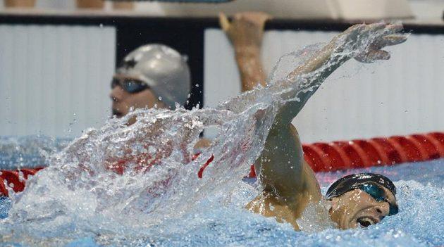David Svoboda při rozplavbě na 200 metrů volný způsob.