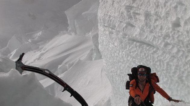 Libor Uher při výstupu na Gasherbrum I.