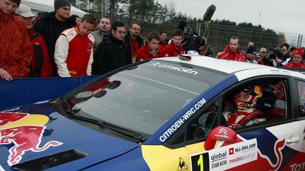 Pilot Sébastien Loeb v Sosnové