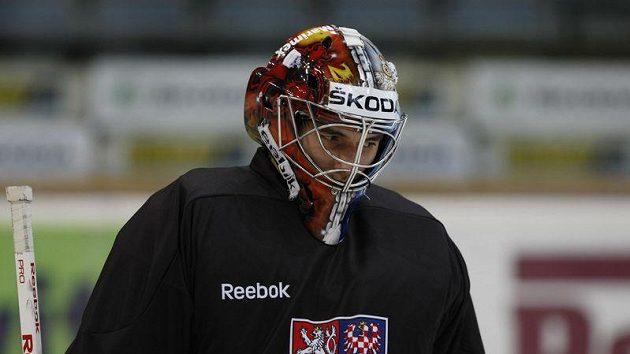 Jakub Kovář na tréninku hokejové reprezentace