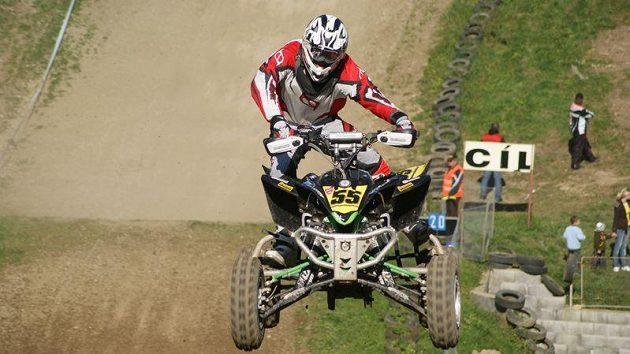 Milan Liška při MČR v quadcrossu v Březové