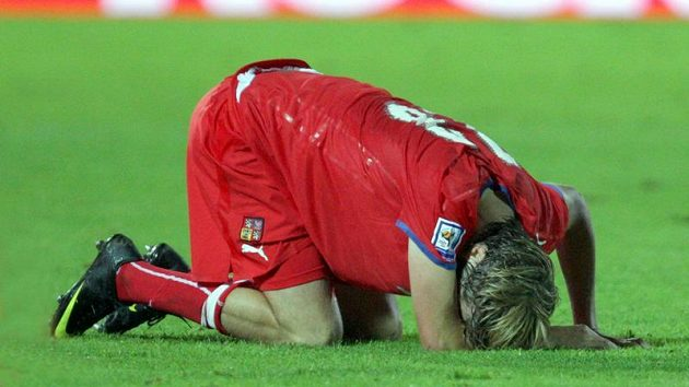 Jaroslav Plašil během zápasu na Slovensku