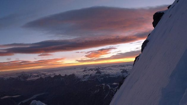Pohled ze severozápadní stěny Gasherbrumu I.