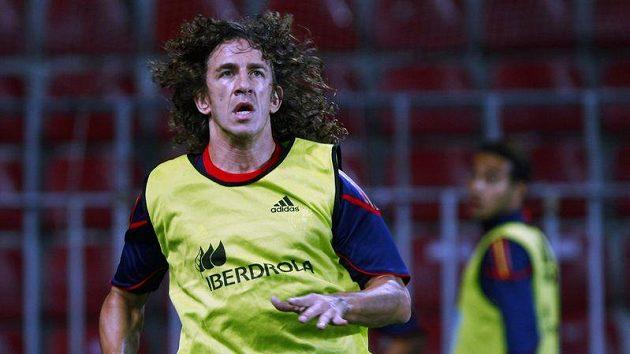 Španělský fotbalista Carles Puyol na tréninku