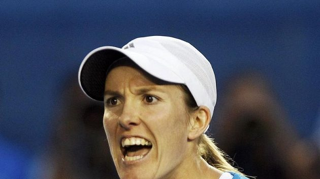Belgičanka Justine Heninová během finále Australian Open