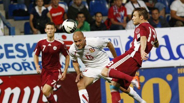 Roman Bednář v utkání proti Lotyšsku.