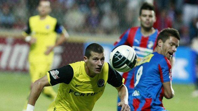 Manuel Pamič v utkání proti Plzni
