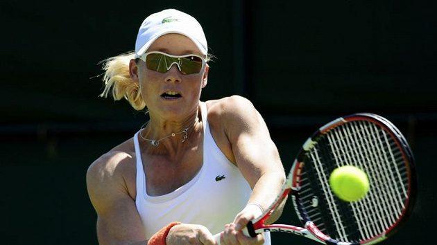 Australská tenistka Samantha Stosurová během prvního kola Wimbledonu