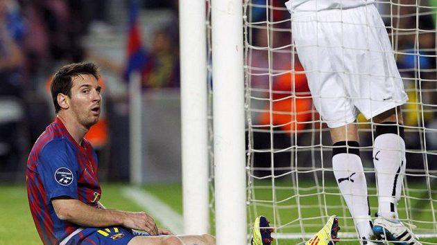 """""""Božský"""" Lionel Messi na trávníku koutzlil, gólově ale vyšel z konfrontace s Plzní naprázdno."""