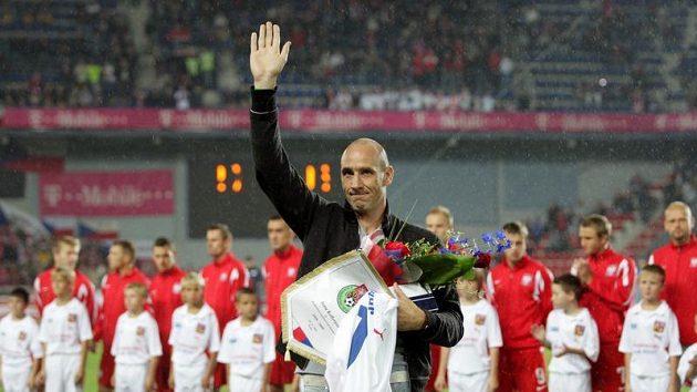 Jan Koller se před zápasem s Polskem oficiálně rozloučil se svou bohatou reprezentační kariérou