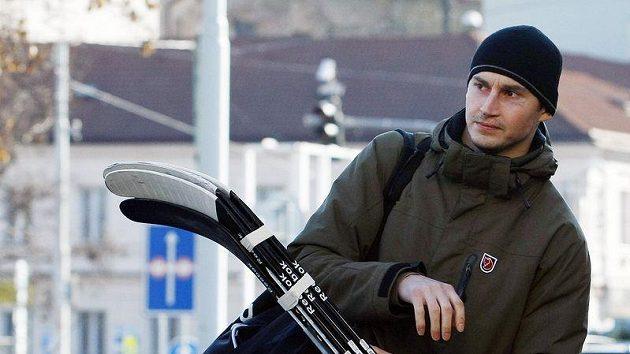 Tomáš Mojžíš na srazu hokejové reprezentace