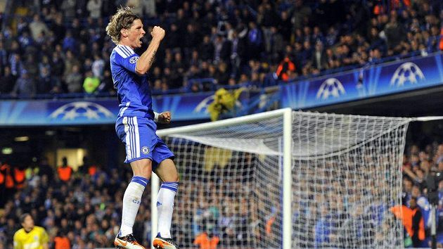 Fernando Torres se raduje z gólu.