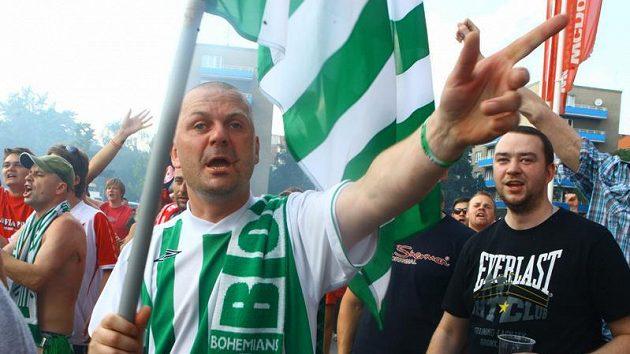Protest fanoušků Bohemky a Slavie.