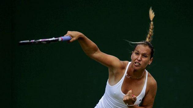 Slovenská tenistka Dominika Cibulková během druhého kola Wimbledonu