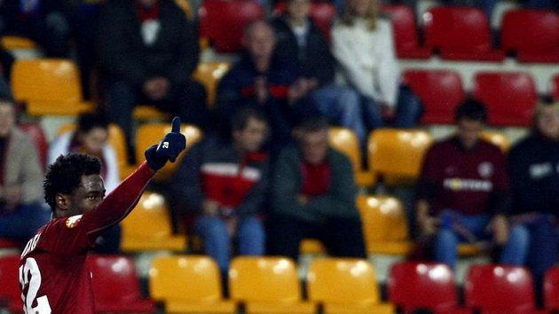 Bony Wilfried oslavuje svůj gól