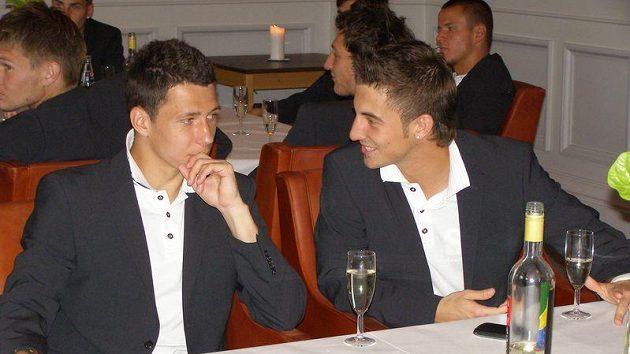 Marek Suchý (vlevo) a Lukáš Vácha při audienci u starosty Viborgu během loňského šampionátu U21 v Dánsku.