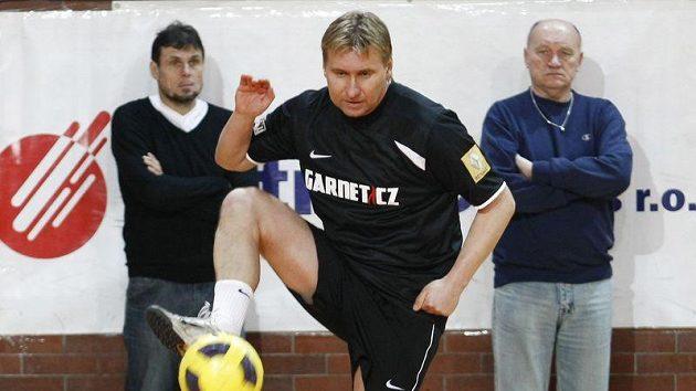 Horst Siegl v akci na veteránském turnaji.