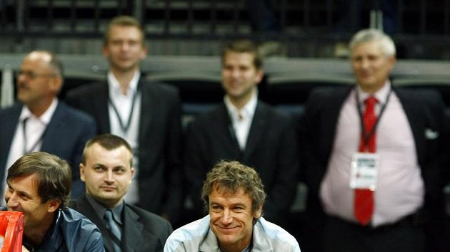 Mats Wilander při exhibici v Praze