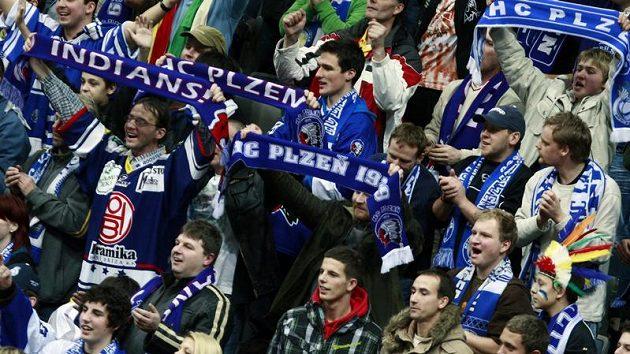 Fanoušci hokejistů Plzně