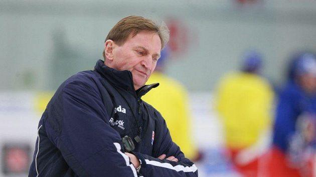 Alois Hadamczik na tréninku české hokejové reprezentace v Brně.