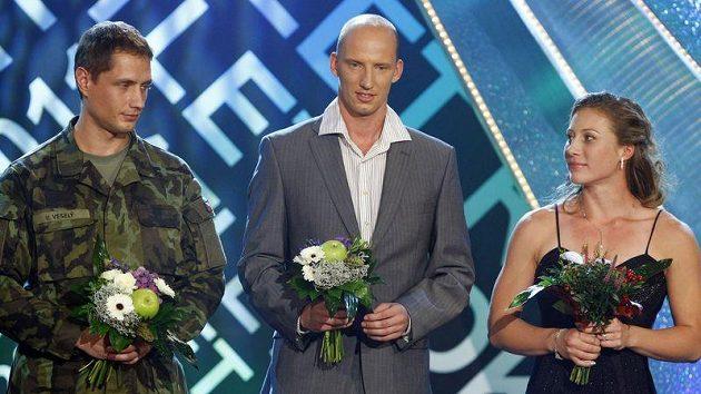 Vítězslav Veselý, Petr Svoboda a Jiřina Ptáčníková.