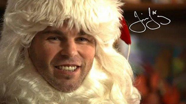 Jaromír Jágr jako Santa Klaus v reklamě