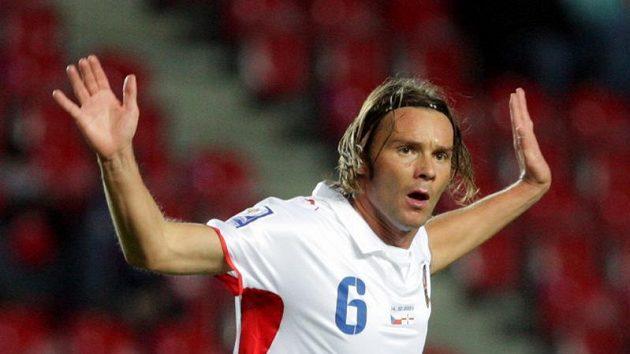 Marek Jankulovski v dresu české reprezentace v utkání proti Severnímu Irsku