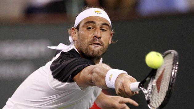 Kypřan Marcos Baghdatis na turnaji kategorie Masters v Indian Wells překvapivě vyřadil světovou jedničku Rogera Federera