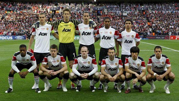 Základní jedenáctka Manchesteru United pro finále Ligy mistrů.
