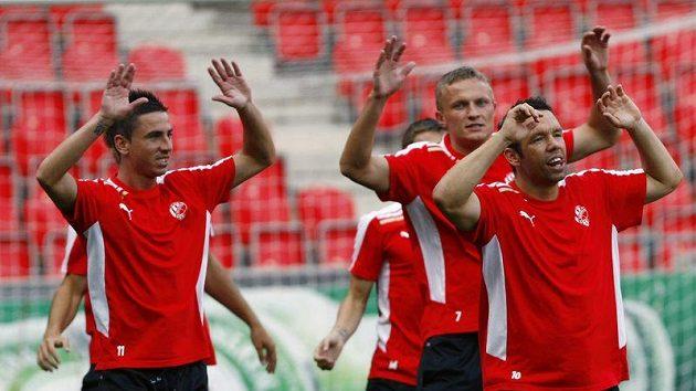 Plzeňští fotbalisté v čele s Pavlem Horváhem se připravují v Edenu na odvetu předkola Ligy mistrů proti Kodani.