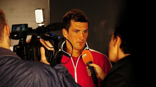 Martin Fenin u zpovědi během exhibiční části Nike City Cupu.