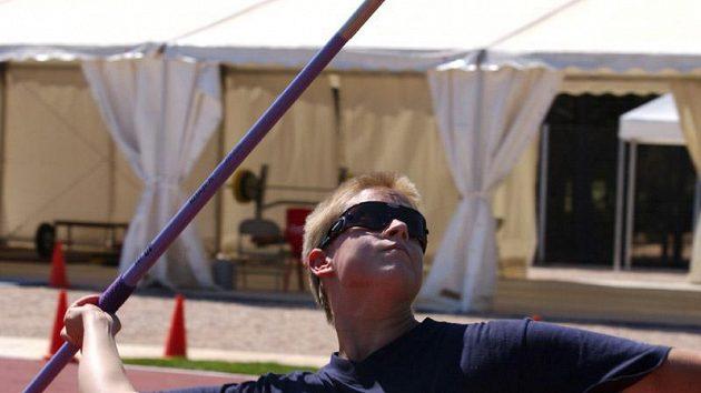 Veronika Foltová při tréninku na svůj stříbrný hod