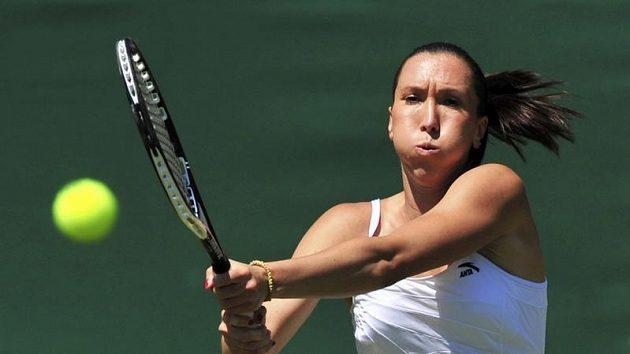 Srbská tenistka Jelena Jankovičová během prvního kola Wimbledonu