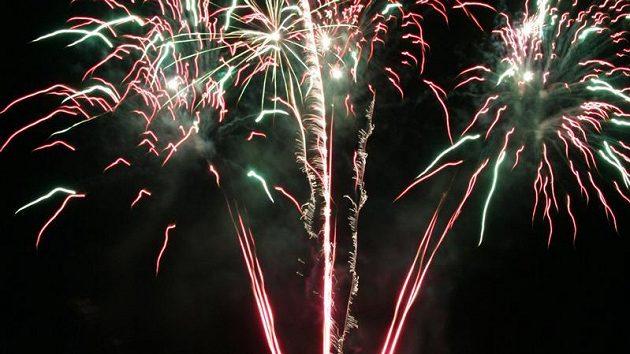 Memoriál Aleše Hřebeského 2009, tradiční sobotní ohňostroj