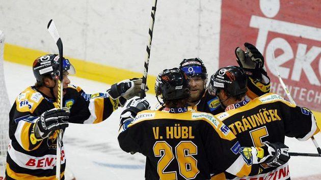 Radost hokejistů Litvínova