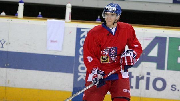 Obránce hokejové dvacítky Jan Látal