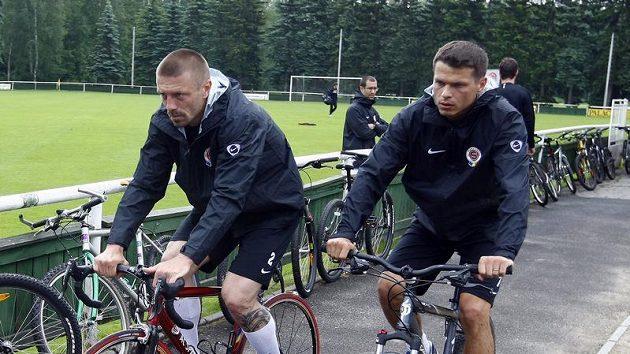 Tomáš Řepka (vlevo) a Libor Sionko na soustředění Sparty