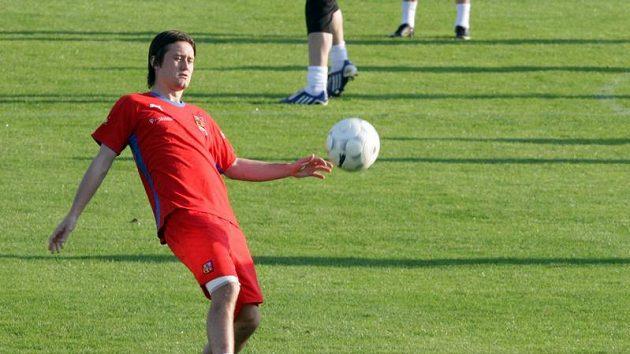 Tomáš Rosický na srazu fotbalové reprezentace