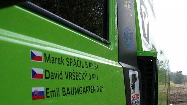 Speciál Tatra připravený pro posádku Marek Spáčil, David Vršecký a Emil Baumgarten.