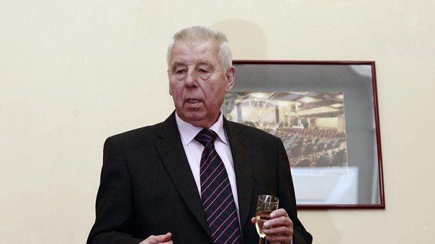 Josef Masopust při velkolepé oslavě 80. narozenin.