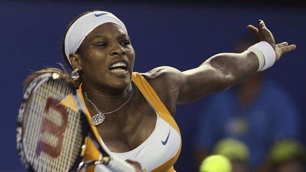 Serena Williamsová během finále Australian Open