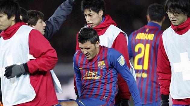 David Villa kvůli dlouhému zranění přišel o místo v sestavě Barcelony. Teď dostává jen minimum šancí.