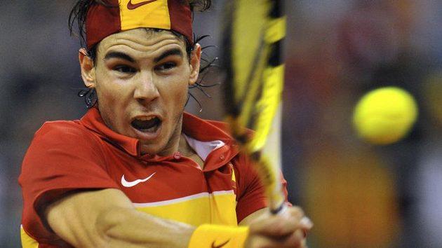 Rafael Nadal ve finále Davis cupu porazil českého tenistu Jana Hájka.